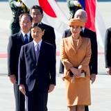 Dass ihre Kronprinzessin bei einer Begrüßungszeremonie für ausländische Staatsgäste teilnimmt, haben die Japaner viele Jahre nicht mehr erlebt.