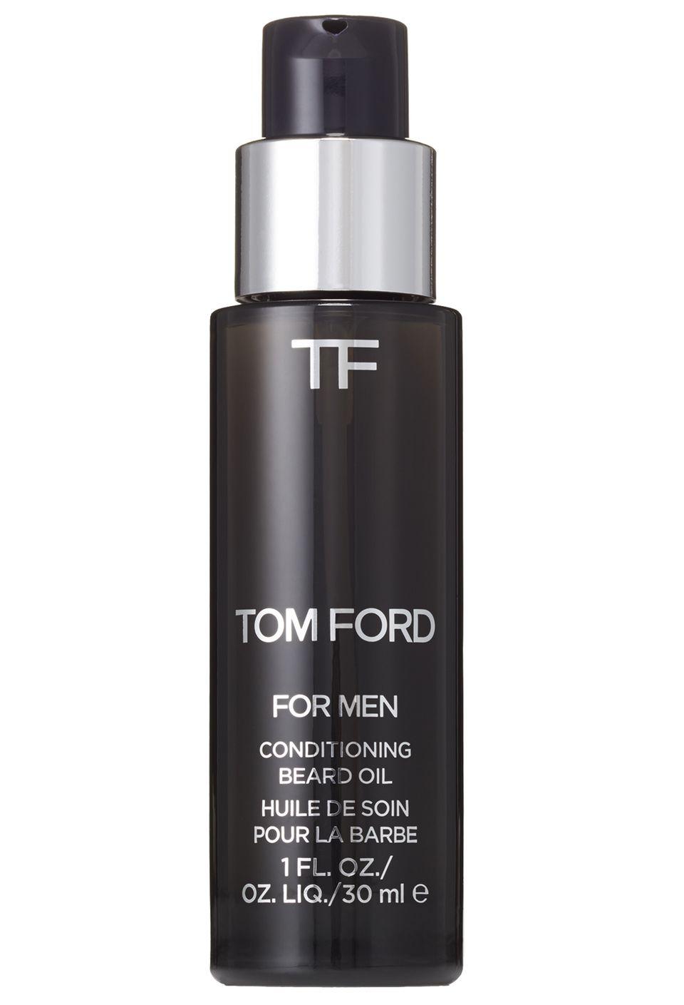 """Kratzkiller: """"Conditioning Beard Oil"""" macht den Bart weich. In drei Duftnuancen. Von Tom Ford, 30 ml, ca. 48 Euro"""
