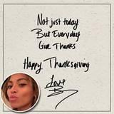 Beyoncé wünscht sich nicht nur heute, sondern an jedem Tag mehr Dankbarkeit.