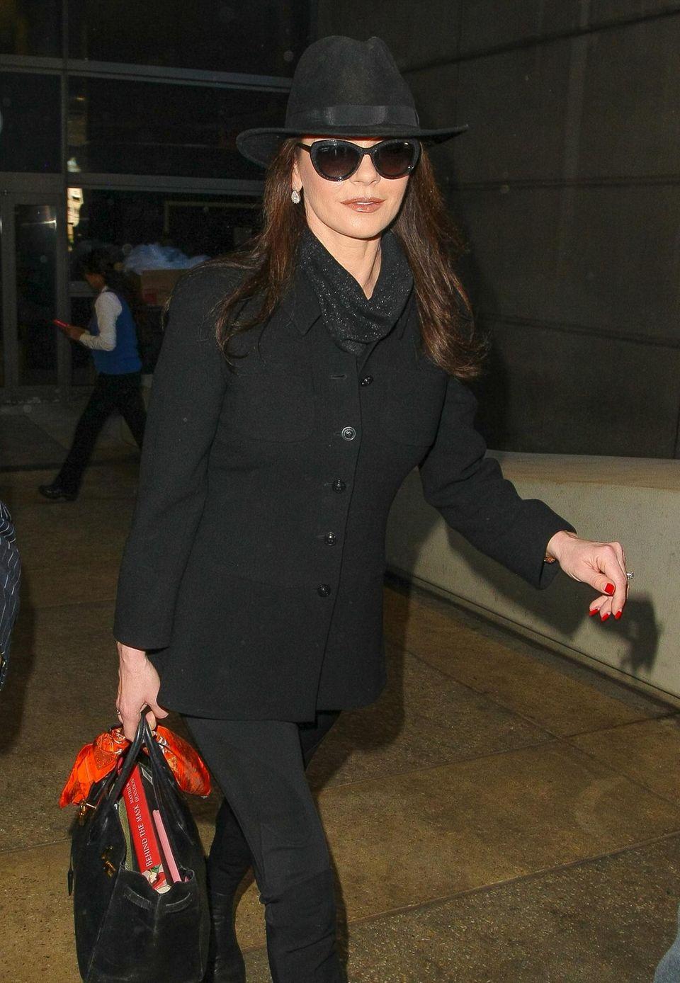 Catherine Zeta-Jones ist in Los Angeles gelandet.