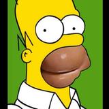 Woran erinnert uns Homer Simpsons Mund nur? Eine weitere Persiflage des Covers.