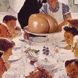 Selbst beim Familienessen steht Kims Hintern im Mittelpunkt.