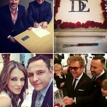 Die Hochzeit von Elton John und David Furnish