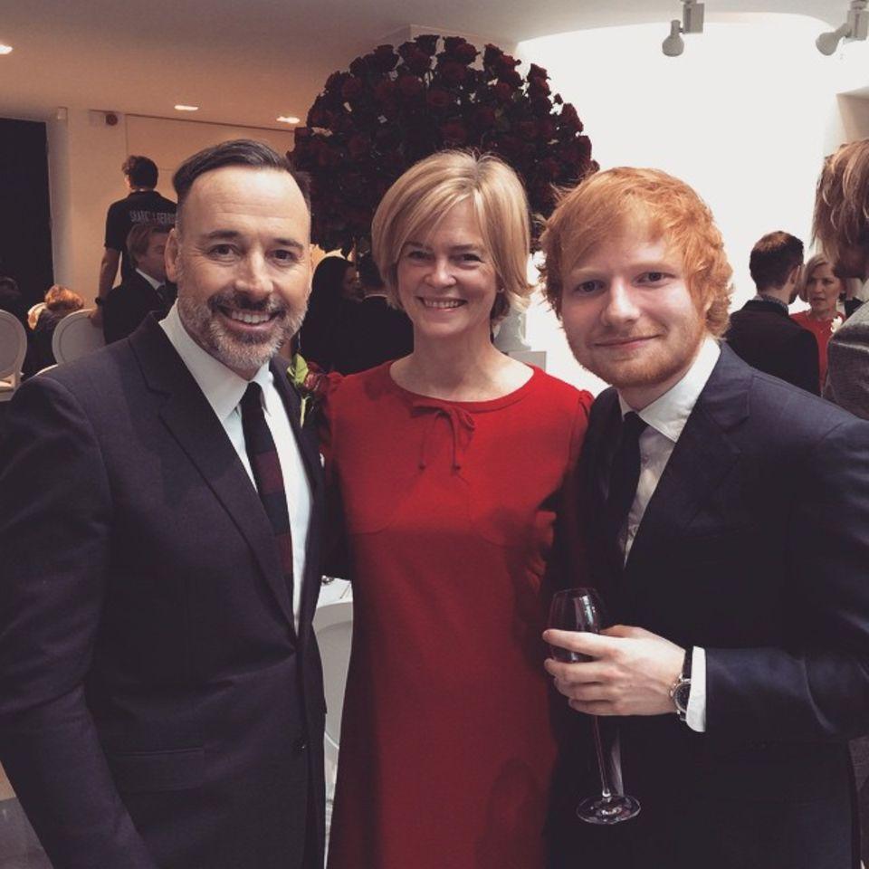 Die Gästeliste glich einer A-Promi-Veranstaltung: Sänger Ed Sheeran zählte zu den Gratulanten.