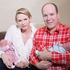 Fürstin Charlène + Fürst Albert: So süß sind ihre Zwillinge