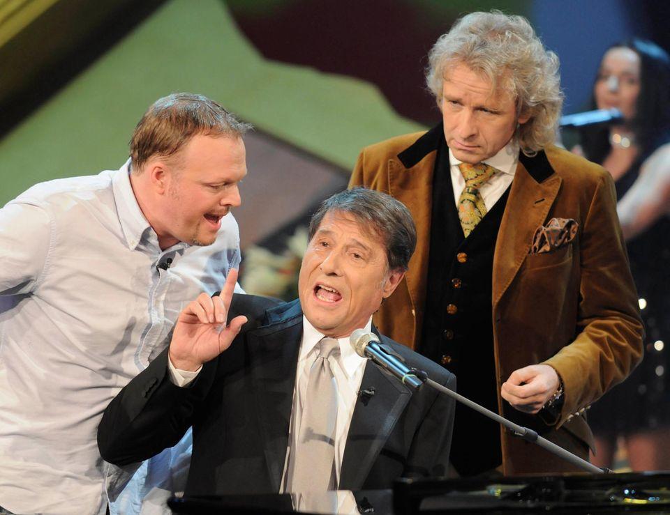 "27. Januar 2008  Stefan Raab undUdo Jürgens sind zu Gast bei Thomas Gottschalkin der Kult-Sendung ""Wetten, dass..?""."