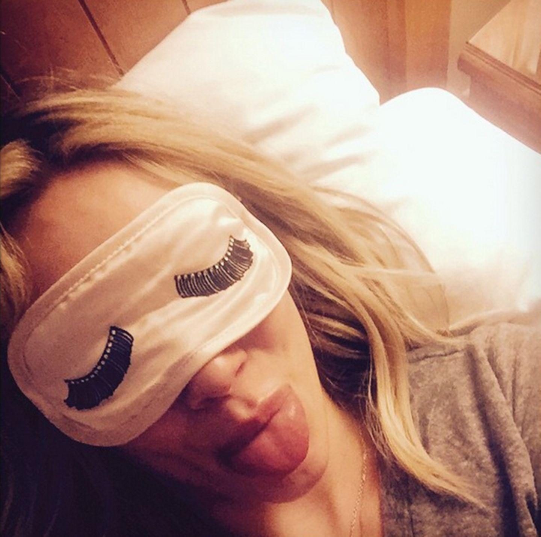 Hilary Duff macht noch einen Schönheitsschlaf, bevor die Party losgeht.