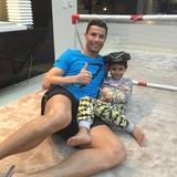 """Cristiano Ronaldo und sein kleiner Sohn wünschen """"Happy New Year!""""."""