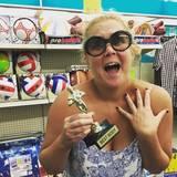 Oktober 2015  Comedian Amy Schumer macht sich über den Figurhype in Hollywood lustig.