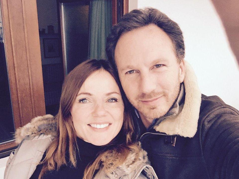 Januar 2015  Geri Halliwell und ihr Verlobter Christian Horner verbringen einen entspannten Sonntag miteinander.
