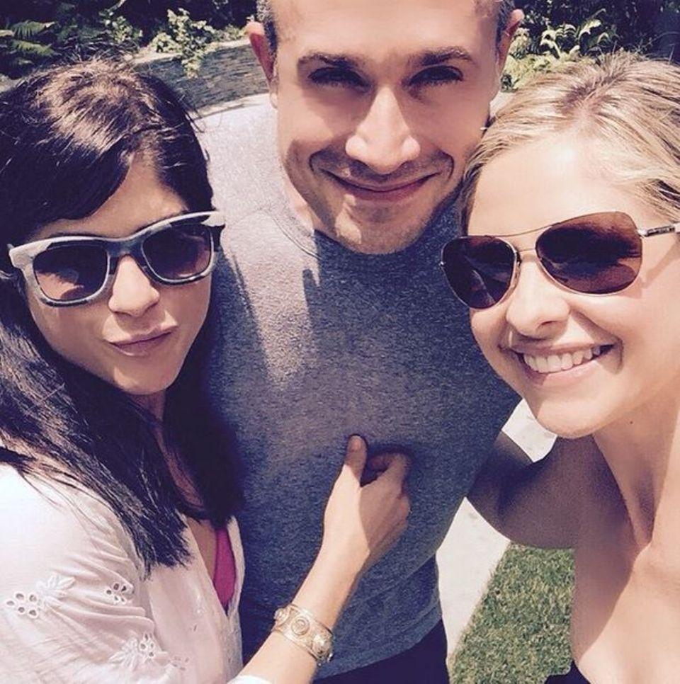 Juni 2015  Selma Blair, Freddie Prinz Jr. und Sarah Michelle Prinz verbringen einen sonnigen Tag zusammen in Los Angeles.