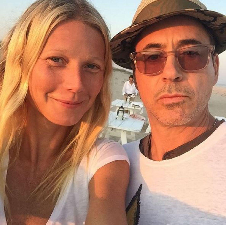 August 2015  Gwyneth Paltrow und Robert Downey Jr. verbringen einen schönen Tag am Strand.