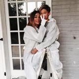 September 2015  Verona Pooth und Sohn San Diego streichen ihr Haus lieber selbst - echte Macher eben!