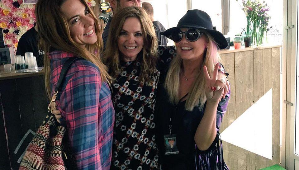 Juni 2015  Die drei Spice Girls Mel C, Geri Halliwell und Emma Bunton sind gute Freunde und treffen sich auf der Isle of Wight.