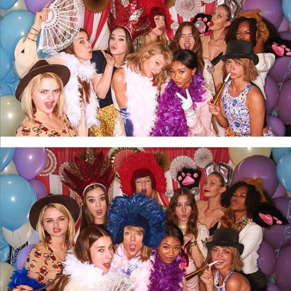 Juni 2015  Als Patentante muss man wissen, wie man feiert. Das beweist Taylor Swift, die sich sehr auf diese Aufgabe freut, mit einer Babyparty für Freundin Jaime King. UNd die Gäste können sich sehen lassen, mit dabei sind unter anderem Hailee Steinfeld, Gigi Hadid und Sarah Hyland.