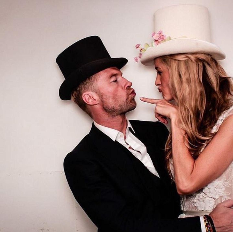 Oktober 2015  Ronan Keating macht seiner Frau Storm Uechtritz zum Geburtstag eine Liebeserklärung auf Instagram und zeigt dieses Bild.