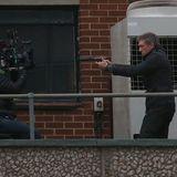 """10. November 2015: Vincent Cassel steht gemeinsam mit Matt Damon für den neuen """"Bourne"""" vor der Kamera."""