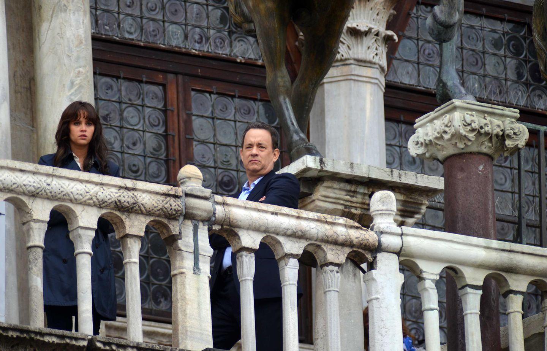 """29. April 2015: Ron Howard verfilmt in Venedig eine weitere Fortsetzung der """"Da Vinci Code""""-Reihe. Tom Hanks ist wieder als """"Professor Robert Langdon"""" mit an Bord und ihm zur Seite steht Felicity Jones."""