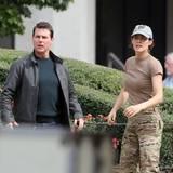 """16. November 2015: Tom Cruise und Cobie Smulders drehen eine Actionszene für """"Jack Reacher 2""""."""