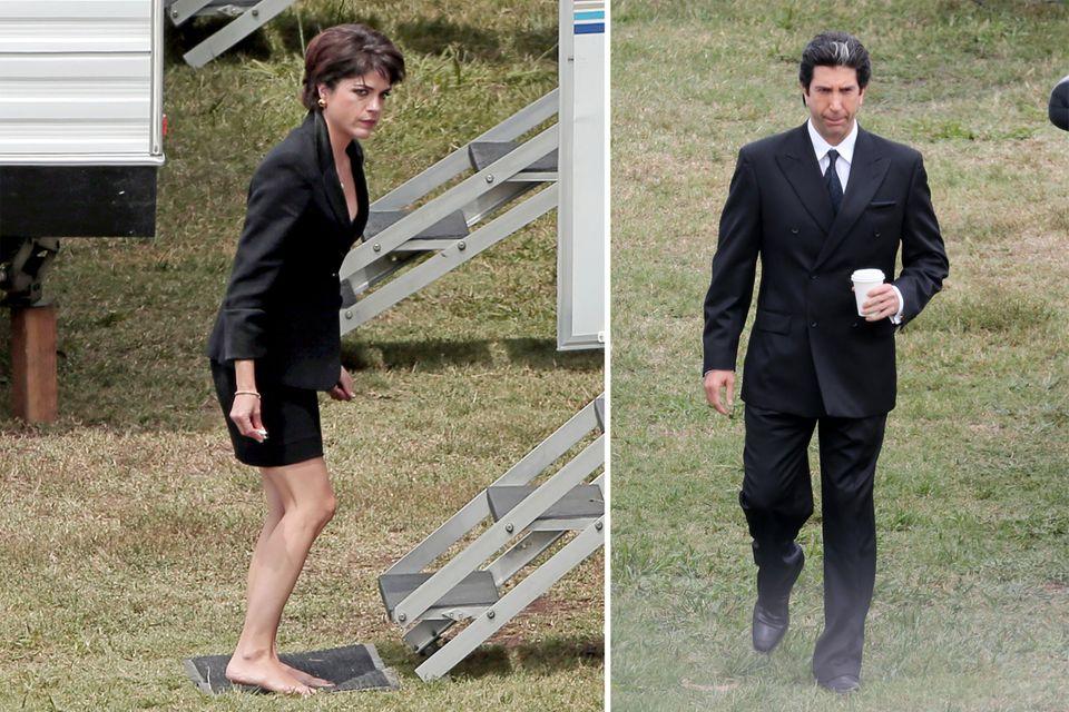 """14. Mai 2015: Für die Serie """"American Crime Story"""", die wahre Kriminalfälle nacherzählt, schlüpfen Selma Blair und David Schwimmer in die Rollen des Ehepaars Kris Jenner und Robert Kardashian."""