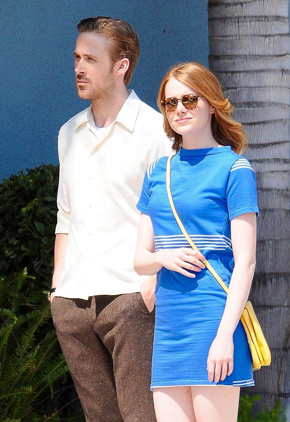 """19. August 2015: Für den Film """"La La Land"""" stehen Ryan Gosling und Emma Stone endlich wieder gemeinsam vor der Kamera."""