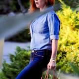"""20. Oktober 2015: Isla Fisher steht für """"Nocturnal Animals"""" in Los Angeles vor der Kamera."""