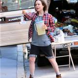 "17. Juni 2015: Ellen Page verkauft bei den Dreharbeiten zum Film ""Tallulah"" Limonade aus dem Kofferraum."