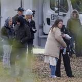 "Justin Timberlake besucht Jessica Biel am Set des Films ""The Devil and The Deep Blue Sea""."