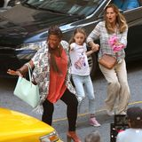 "20. Juli 2015: Queen Latifah und Jennifer Garner stehen für den Film ""Miracles of Heaven"" in Atlanta vor der Kamera."