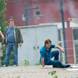 """12. Juli 2015: Tom Cruise steht in Atlanta für den Film """"Mena"""" vor der Kamera."""