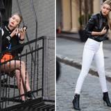 """21. April 2015: Gigi Hadid ist das Gesicht von """"Maybelline"""" und steht für ein Photoshooting in Manhattan vor der Kamera."""