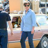 """21. Mai 2015: Während Tom Cruises Dreharbeiten zum Drogen-Thriller """"Mena"""", hat das Film-Auto plötzlich eine unverhergesehene Panne."""
