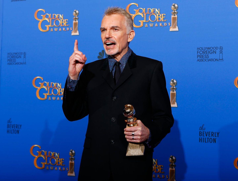 """Billy Bob Thorton gewinnt den Preis als bester Schauspieler in einer Mini-Serie oder Fernsehfilm für seine Rolle in """"Fargo""""."""