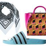 Wussten Sie, dass die Adilette von Stil-Ikonen wie Rita Ora oder der Berliner Kostümbildnerin Aino Laberenz zur Couture-Schlappe erkoren wurde? Hier sind drei Fashion-It-Pieces, deren Ruhm an den weltweiten A- Klasse-Auto-Hype heranreicht. 1. Pali-Tuch aus Kaschmir von Lala Berlin; 2. Die Logo-Bag von MCM reiht sich bei Big Names wie Louis Vuitton ein; 3. Vom Fußballer zur Lady: Die Adilette mit den typischen Adidas-Streifen ist jetzt High Fashion