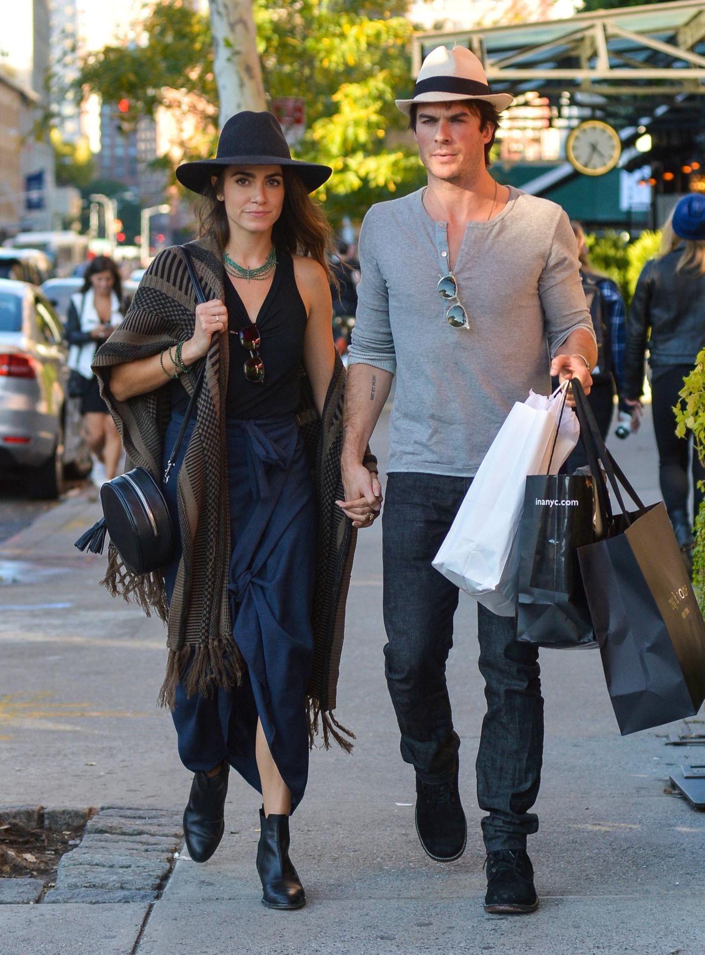 12. Oktober 2015: Nikki Reed und Ian Somerhalder gehen in New York spazieren.