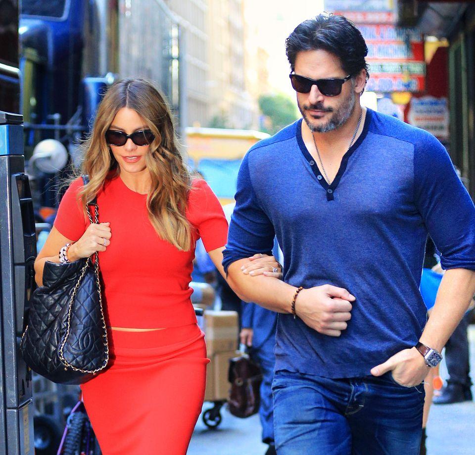 23. September 2015: Sofia Vergara und Joe Manganiello sind auf dem Weg zu ihrem Hotel in New York.