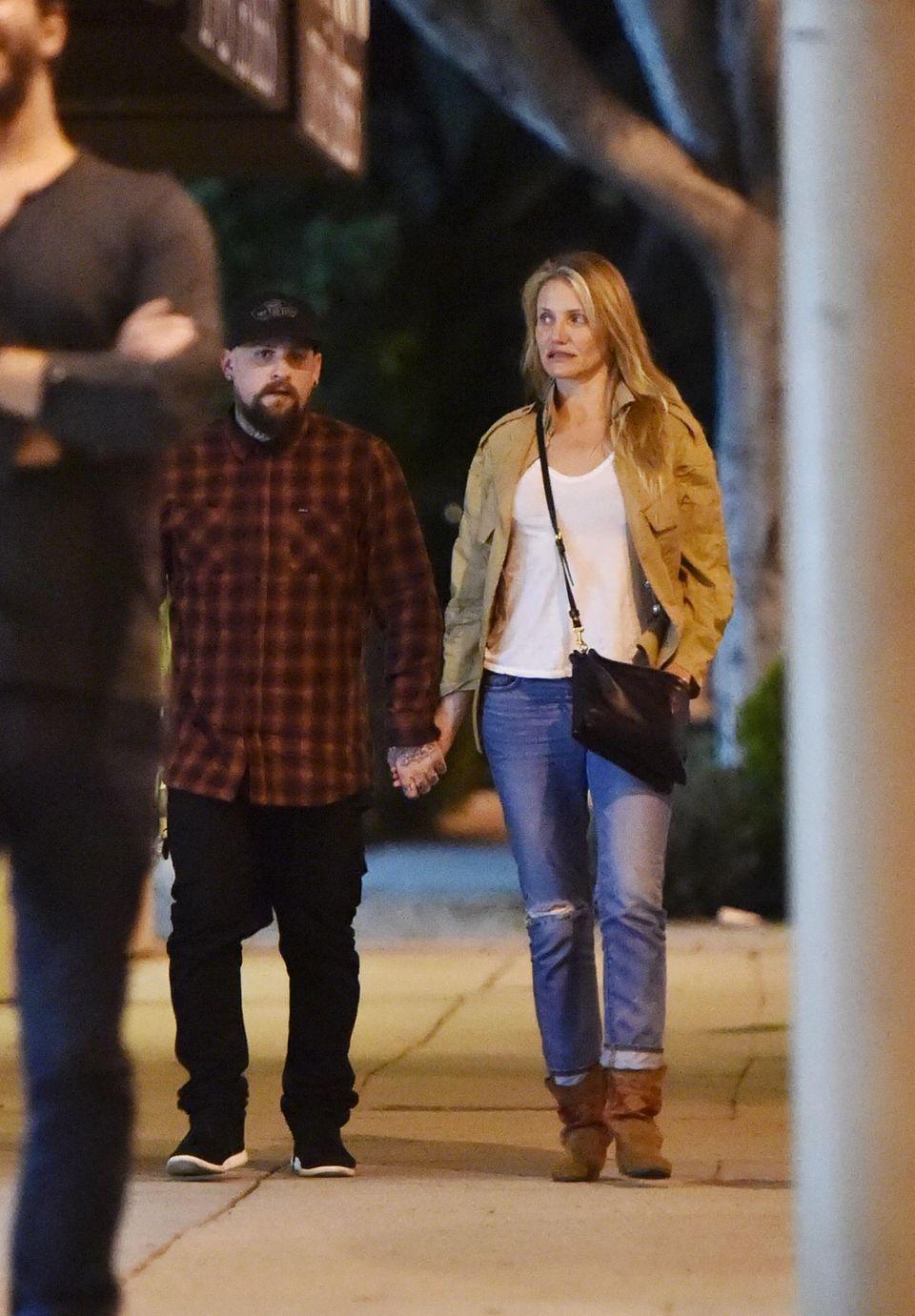 29. Oktober 2015: Cameron Diaz und Benji Madden genießen einen romantischen Spaziergang durch West-Hollywood.