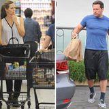 25. Oktober 2015: Arbeitsteilung trotz Scheidung: Jennifer Garner sucht die Lebensmittel aus und Ben Affleck lädt sie ins Auto.