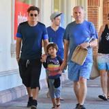 12. September 2015: Orlando Bloom ist mit Sohn Flynn und Vater Harry in Malibu unterwegs.