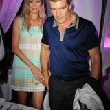 13. Juli 2015: Antonio Banderas und Nicole Kimpel besuchen das Restaurant Rancio Fellone in Ischia.