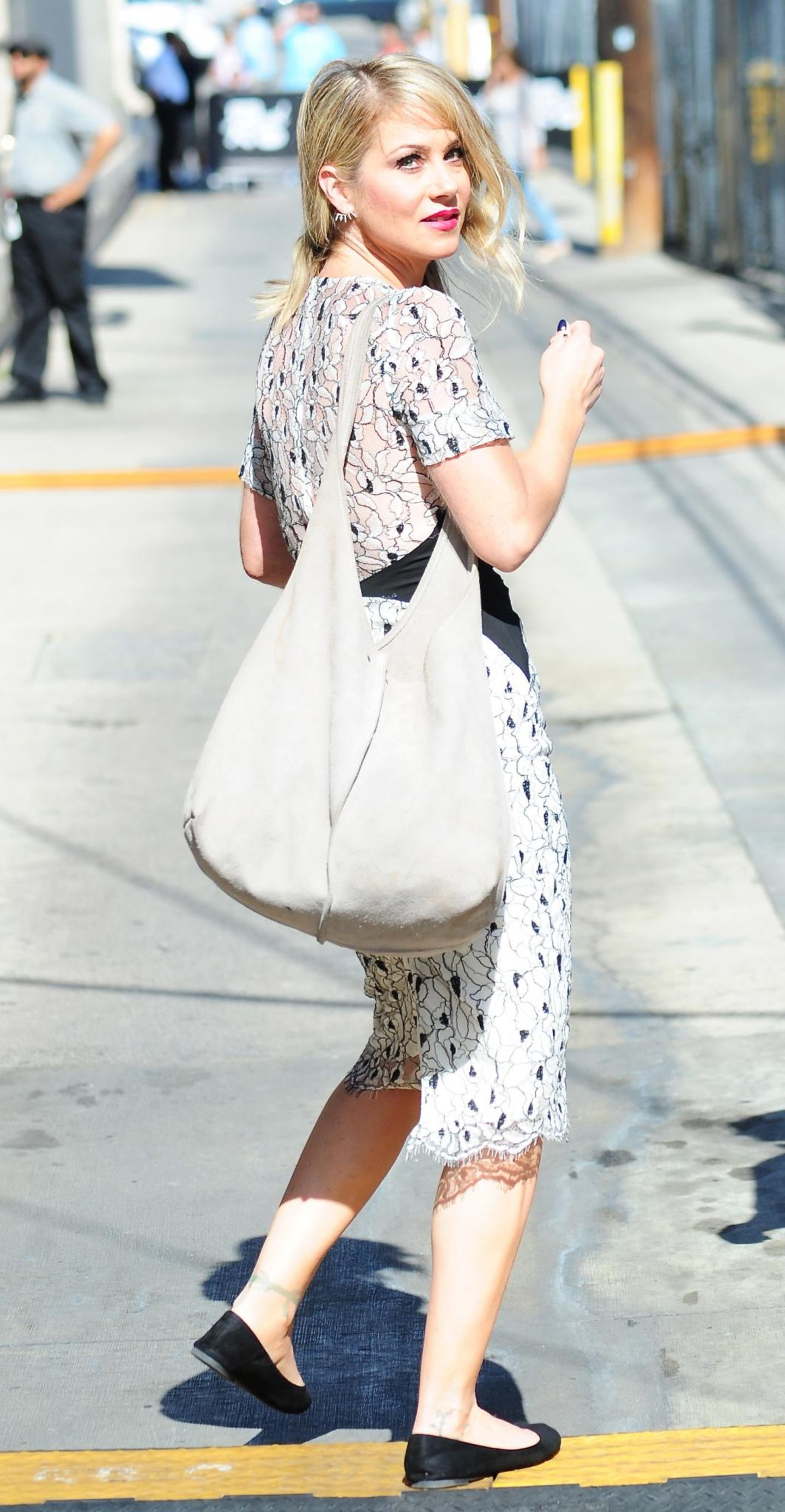 29. Juli 2015: Christina Applegate kommt in Hollywood an. Sie ist Gast bei Jimmy Kimmel LIVE.