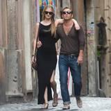 24. August 2015: Jude Law schlendert mit seiner Freundin Phillipa durch Rom.