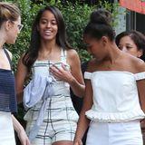 17. Juni 2015: US-First Lady Michelle Obama reist durch Europa und hat ihre Töchter mitgebracht. Gestern noch in London besucht sie heute die Expo in Mailand. Ihre Mädchen Malia und Sasha bummeln derweil durch die Altstadt.