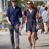 5. Mai 2015: Eddie Redmayne ist nach einem Lunch mit seiner Frau Hannah Bagshawe auf dem Weg nach Hause.