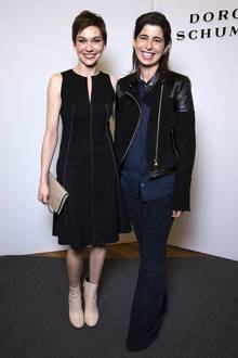 Christiane Paul und Designerin Dorothee Schumacher sind bestens gelaunt.