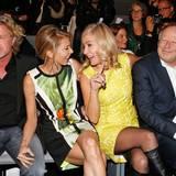 Zwei trendige Pärchen, die sich gut verstehen: Mats Wahlström, Ursula Karven, Judith Milberg und Ehemann Axel freuen sich über ein Wiedersehen bei Laurèl.
