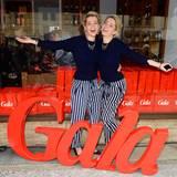 Die Model-Schwestern Nina und Julia Meise kamen im gleichen Outfit zum Fashion Brunch.