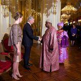 8. Januar 2015: Königin Mathilde und König Philippe geben im königlichen Palast in Brüssel einen Empfang für das diplomatische Korps.