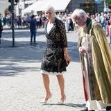 22. Juli 2015: Prinzessin Mette-Marit nimmt an einem Gottesdienst in der Oslo Kathedrale in Gedenken an die Opfer von Utøya teil.