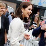 """27. September 2015: Prinzessin Mary von Däenamrk ist in New York auf dem """"Nordic Food Festival"""" zu Gast."""